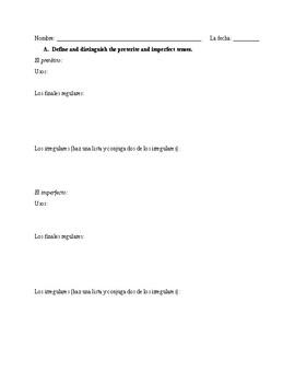 Imperfect Grammar quiz - Realidades 2 Ch 4B