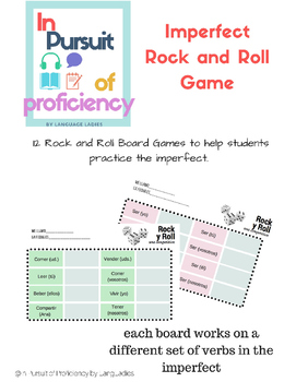 Imperfect Rock and Roll Verb Drill Game