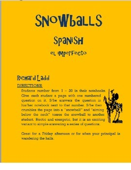 Imperfect Snowballs SPANISH