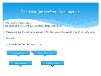Imperfect Subjunctive Notes