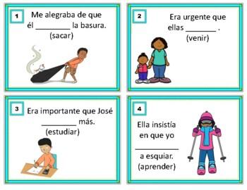 Imperfect Subjunctive Spanish Task Cards: Imperfecto de Subjuntivo