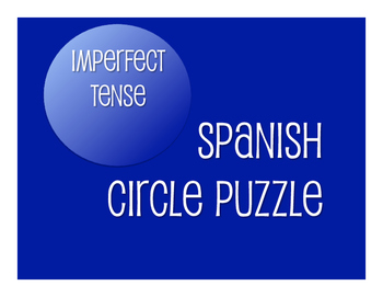 Spanish Imperfect Circle Puzzle