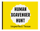 Spanish Imperfect Human Scavenger Hunt