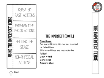 Imperfect Tense Interactive Notebok Page
