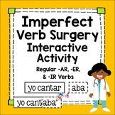 Spanish Imperfect Tense Interactive Worksheet Verb Surgery Lesson