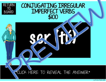 Imperfect Tense Jeopardy-Style Trivia Game