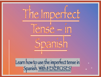 Imperfect Tense Lesson