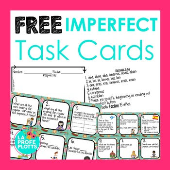 Imperfect Tense Task Cards FREEBIE