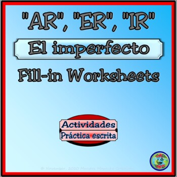 Imperfect Tense Verb Drill Conjugation Worksheets