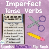 Spanish Imperfect Tense Verbs Interactive Flip Book Editable