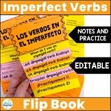 Spanish Imperfect Tense Verbs Interactive Flip Book Editable