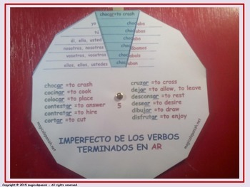 Imperfect Tense in Spanish (1). Verb Conjugation Wheels. PDF Document.