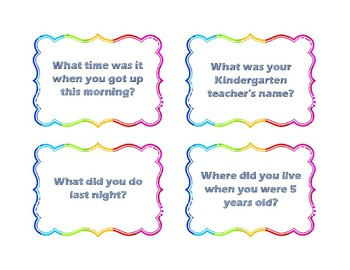 Imperfect and Preterit Conversation Cards for Spanish