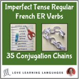 Imperfect tense French ER Verbs -Primary French conjugation chains-Cut and paste