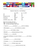 Imperfect tense worksheet