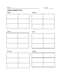 Imperfect tense worksheet, conjugations- Realidades 2 Ch. 4A