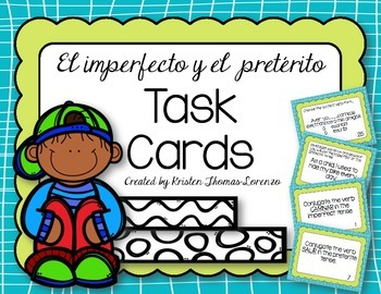 Imperfect vs. Preterite Task Cards