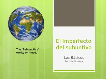 Imperfecto del Subjuntivo