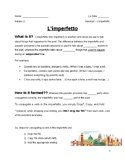Imperfetto Guided Notes
