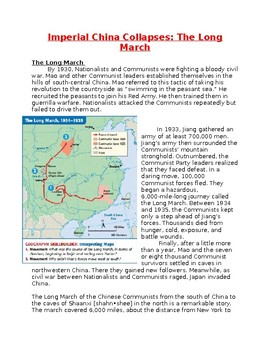 Imperial China Collapses: The Long March and Chinese Civil War