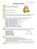 Imperial China Timeline - NO PREP