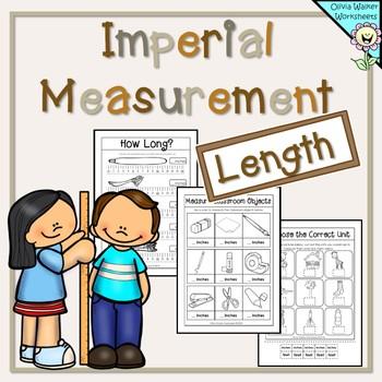 Imperial Measurement Worksheets - Length Kindergarten, Grade One ...