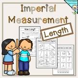 Imperial Measurement Worksheets - Length Kindergarten, Gra