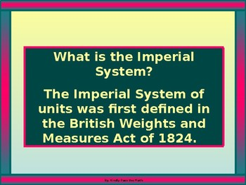 Algebra Power-point:  Imperial Units of Measure (BC)