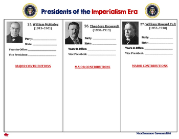 Imperialism: American Presidents