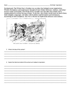 Imperialism Assessments - Exams, CRQs, Enduring Issues Essay, exit tickets