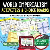 Imperialism Activities, Choice Board, Print & Digital, Google