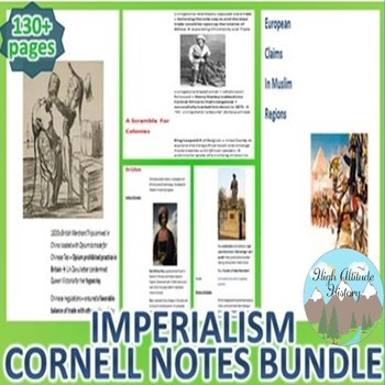 Imperialism Cornell Notes Bundle (World History)