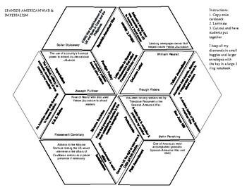 Spanish-American War & U.S Imperialism-Diamond Vocabulary Puzzle