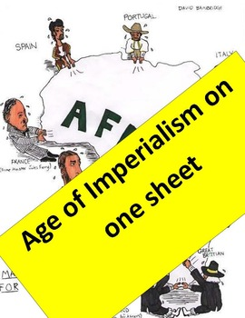 Imperialism Graphic Organizer  11 x 17!  Key & imperialism Map activity included
