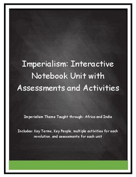 Imperialism: Interactive Notebook Unit with Assessments and Activities