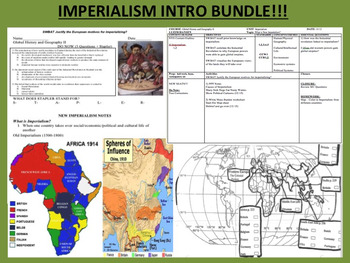 Imperialism Intro Bundle - Close Reads + Interactive Maps