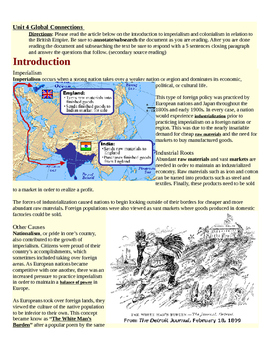 Imperialism--Introductory Reading