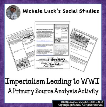 Imperialism Leading to WWI Primary Source Analysis Activit