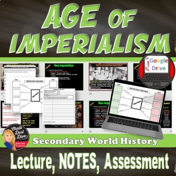 Imperialism Lecture, Cornell Notes, Graphic Organizer (World History)