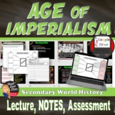 Imperialism Lecture, Cornell Notes, Graphic Organizer - Print and Digital