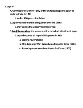 Global 2: Imperialism Notes