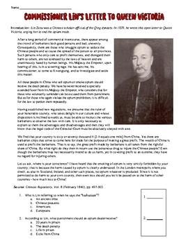 lin zexu letter to queen victoria