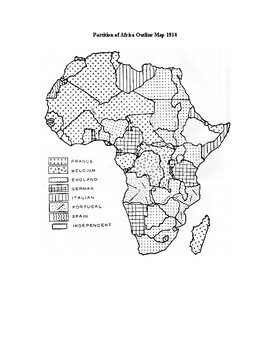 Imperialism: Partition of Africa Outline Map