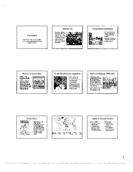 Imperialism Resources and Assessments for US/World History Courses