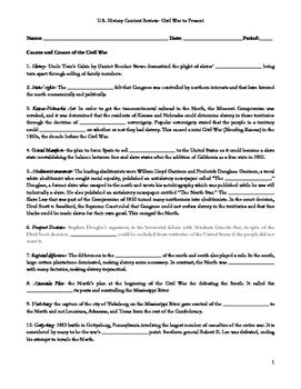 U.S. History Content Practice- Civil War to Present