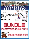 Imperialism Scramble  Africa PowerPoint, fill in notes, graphic organizer bundle
