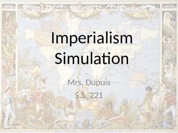 Imperialism Simulation - Scavenger Hunt