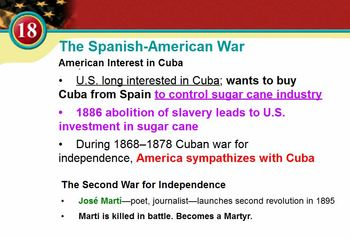 Spanish-American War Video Lecture - Great for Special Needs