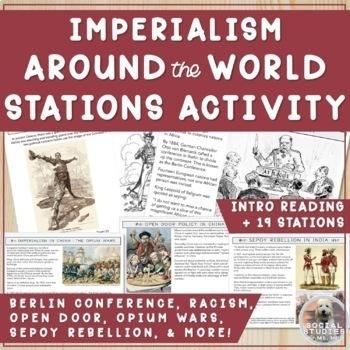 Imperialism Stations: Social Darwinism, Sepoy & Boxer Rebellion, Open Door, etc!