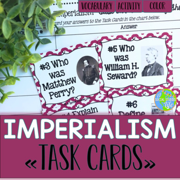 Imperialism Task Cards and Recording Sheet